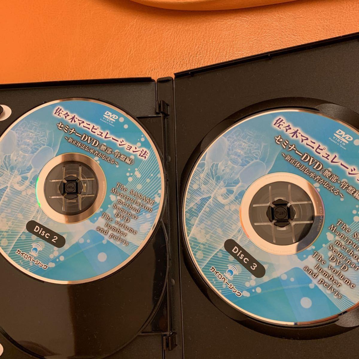 【佐々木マニピュレーション法セミナー 腰部骨盤編】本編DVD+臨床動画DVD 佐々木繁光 整体_画像3