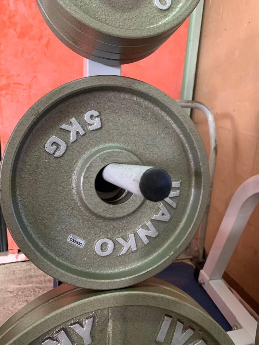 Φ50 オリンピックプレート イヴァンコ IVANKO BARBELL COMPANY バーベル プレート スタンド(ラック) 付き 合計115kg an_画像6