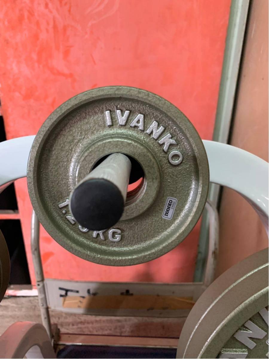 Φ50 オリンピックプレート イヴァンコ IVANKO BARBELL COMPANY バーベル プレート スタンド(ラック) 付き 合計115kg an_画像8