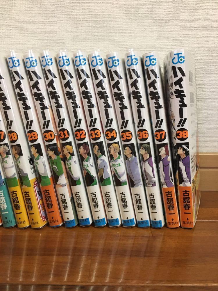 1円スタート!美品 ハイキュー全巻 1-38巻 1-36巻はクリアカバー付き!_画像5