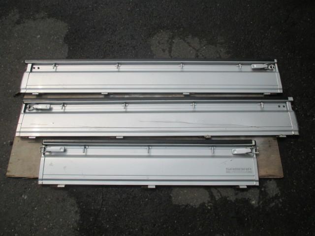 スバル サンバー TT1 TT2 あおり バタ 3枚セット 1台分 左右 リア シルバー 銀