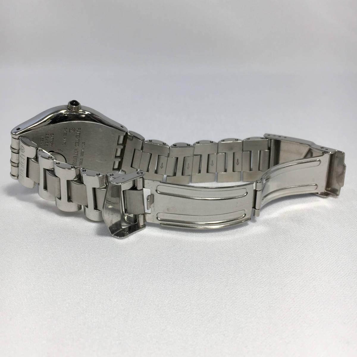 スウォッチ 腕時計 アイロニー AG1993 クォーツ デイト シルバー×ブラック Swatch Irony 電池交換済 稼働品_画像6