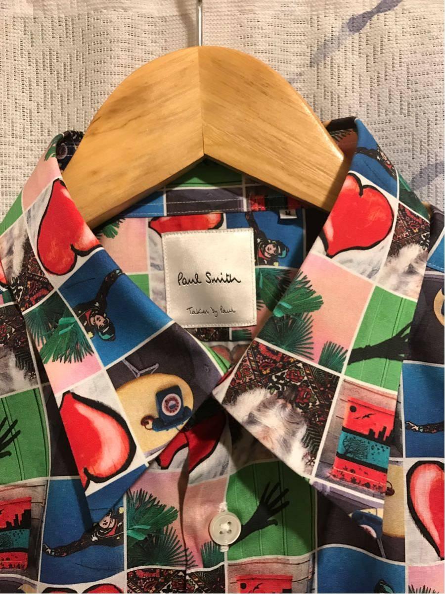 【新品】Paul Smith 総柄シャツ taken by paul ポールスミス photo print shirts サイズM 半袖_画像2