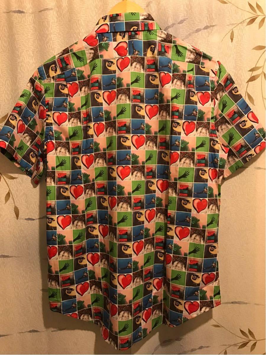 【新品】Paul Smith 総柄シャツ taken by paul ポールスミス photo print shirts サイズM 半袖_画像4
