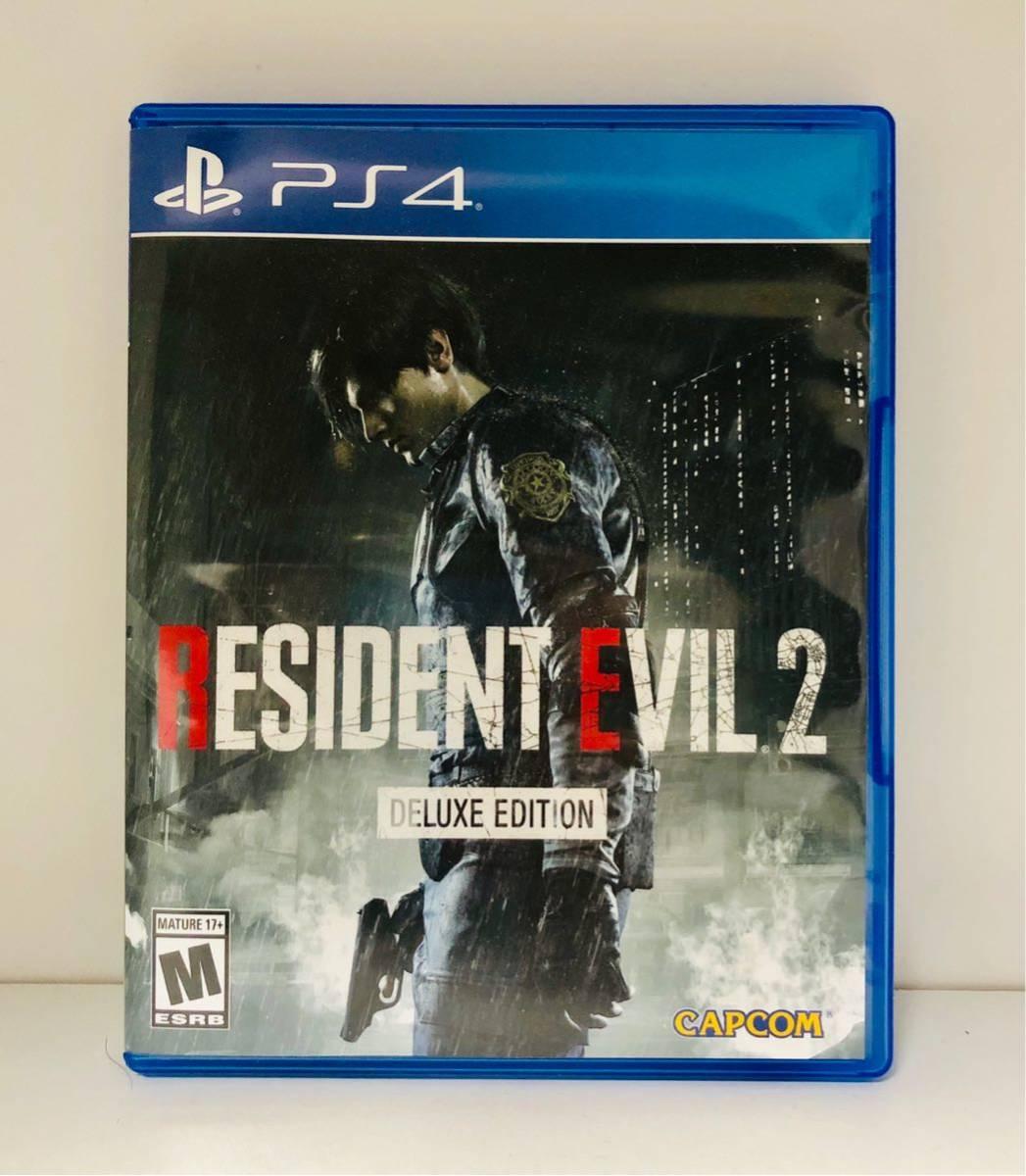 北米版 PS4ソフト Resident Evil 2 BIOHAZARD:RE2 Deluxe Edition バイオハザード 2