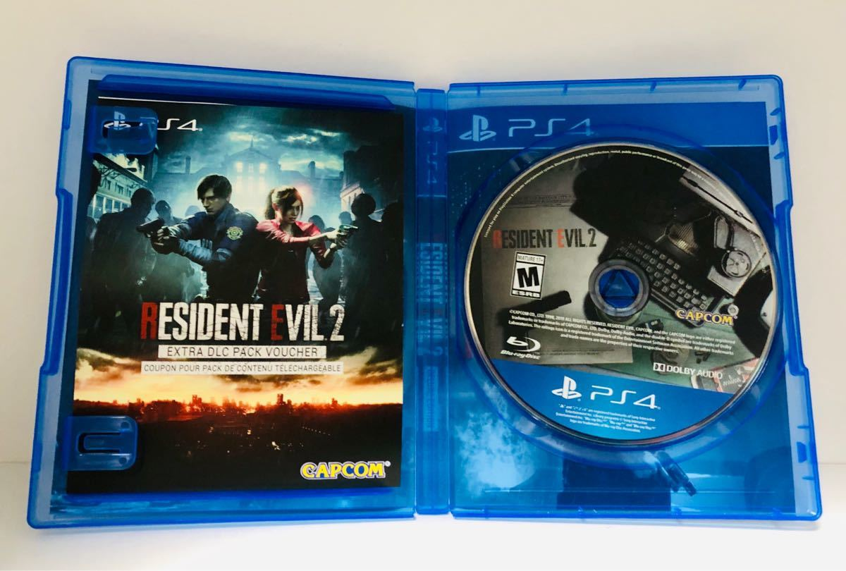 北米版 PS4ソフト Resident Evil 2 BIOHAZARD:RE2 Deluxe Edition バイオハザード 2_画像2
