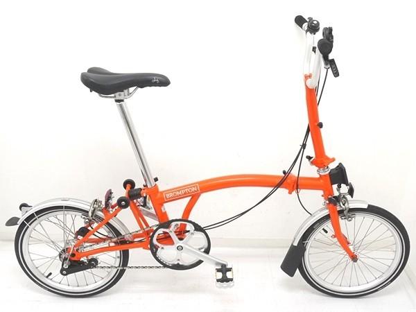 ブロンプトン 折り畳み自転車 M3L 2016年モデル オレンジ フォールディングバスケット・輪行バッグ付き