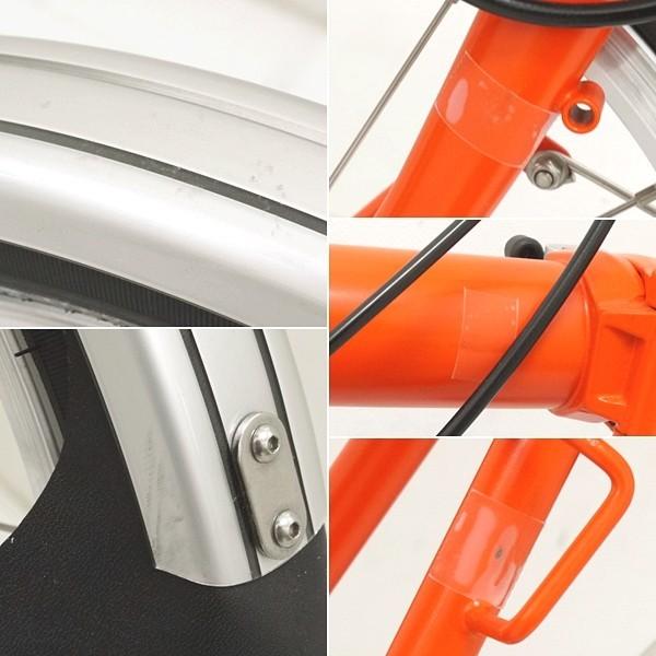 ブロンプトン 折り畳み自転車 M3L 2016年モデル オレンジ フォールディングバスケット・輪行バッグ付き_画像5