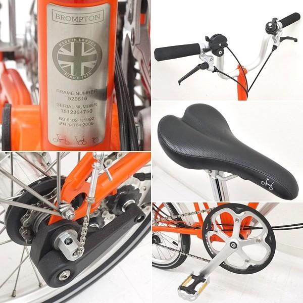 ブロンプトン 折り畳み自転車 M3L 2016年モデル オレンジ フォールディングバスケット・輪行バッグ付き_画像3