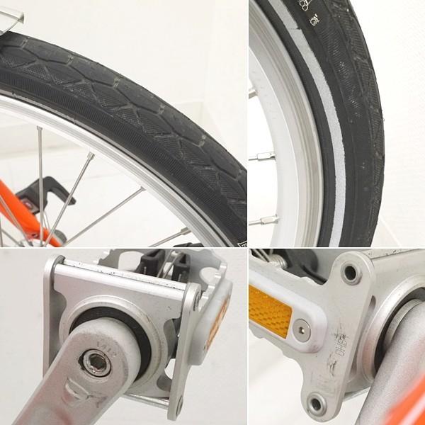 ブロンプトン 折り畳み自転車 M3L 2016年モデル オレンジ フォールディングバスケット・輪行バッグ付き_画像4