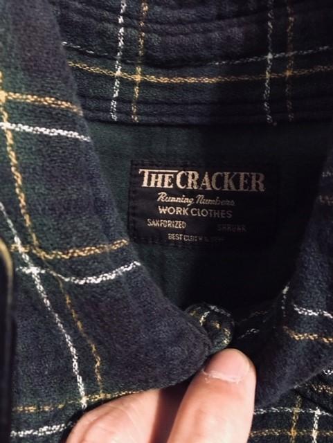 The Cracker ザ・クラッカー ネルシャツ グリーン系 サイズS 中古品 程度良_画像4