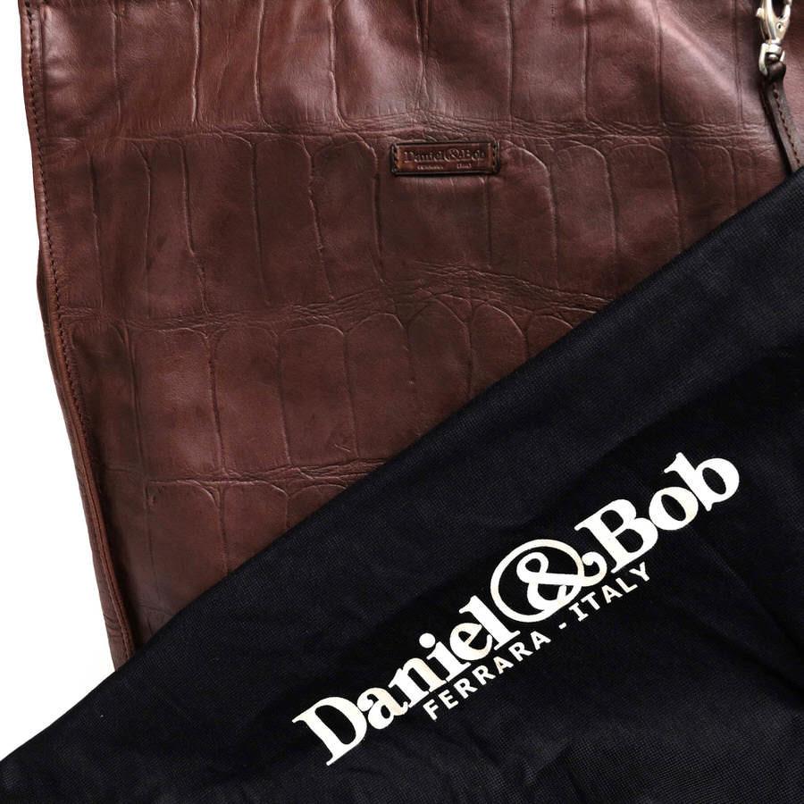 Daniel&Bob ダニエル&ボブ バッグ トートバッグ キーストラップ付き クロコ型押し イタリア製 メンズ レザー 革 c2791_画像6