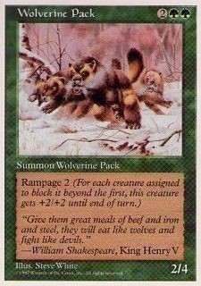 017264-002 5E/5ED クズリの群れ/Wolverine Pack 英2枚_画像1