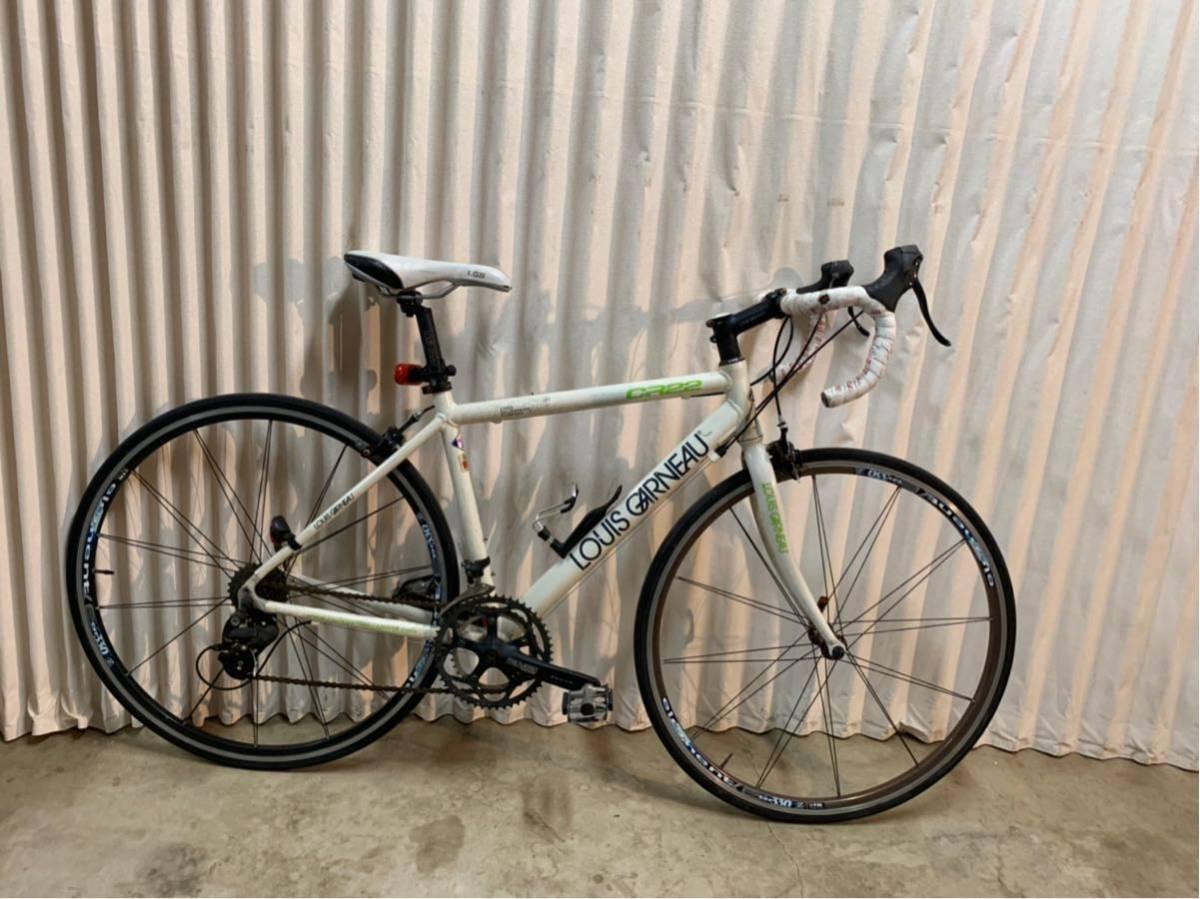 〔中古品〕ロードバイク LOUIS GARNEAU CR22 700×25C 2×9 18段変速 アルミフレーム グリップテープ、配送なし、取りに来れる方のみ。