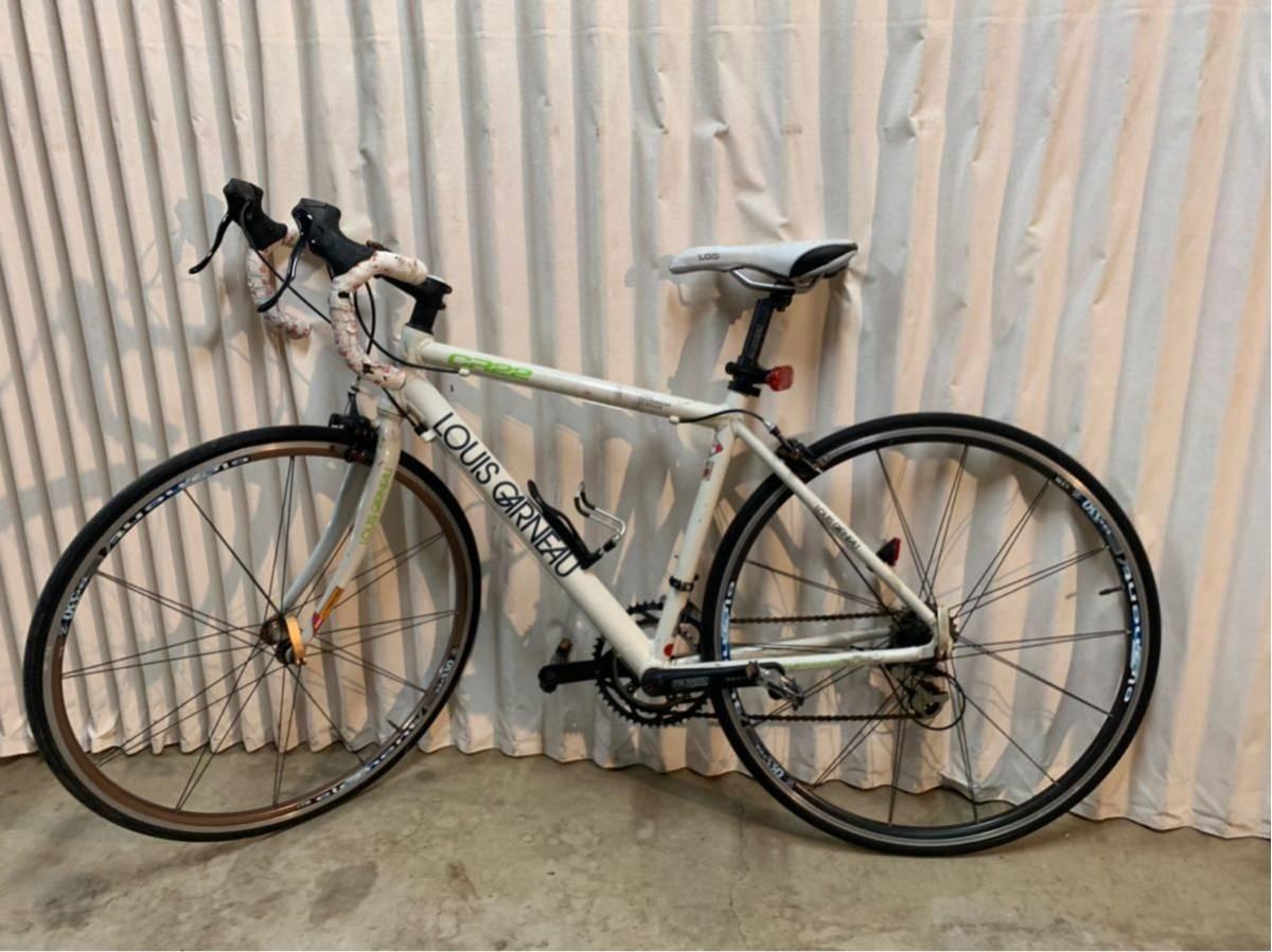 〔中古品〕ロードバイク LOUIS GARNEAU CR22 700×25C 2×9 18段変速 アルミフレーム グリップテープ、配送なし、取りに来れる方のみ。_画像2