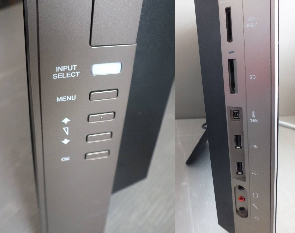SONY VAIO デスクトップパソコン VPCL12AFJ Windows10 CORE2 Duo 無線マウス キーボード wifi BD DDR2 4GB 24インチ _画像4