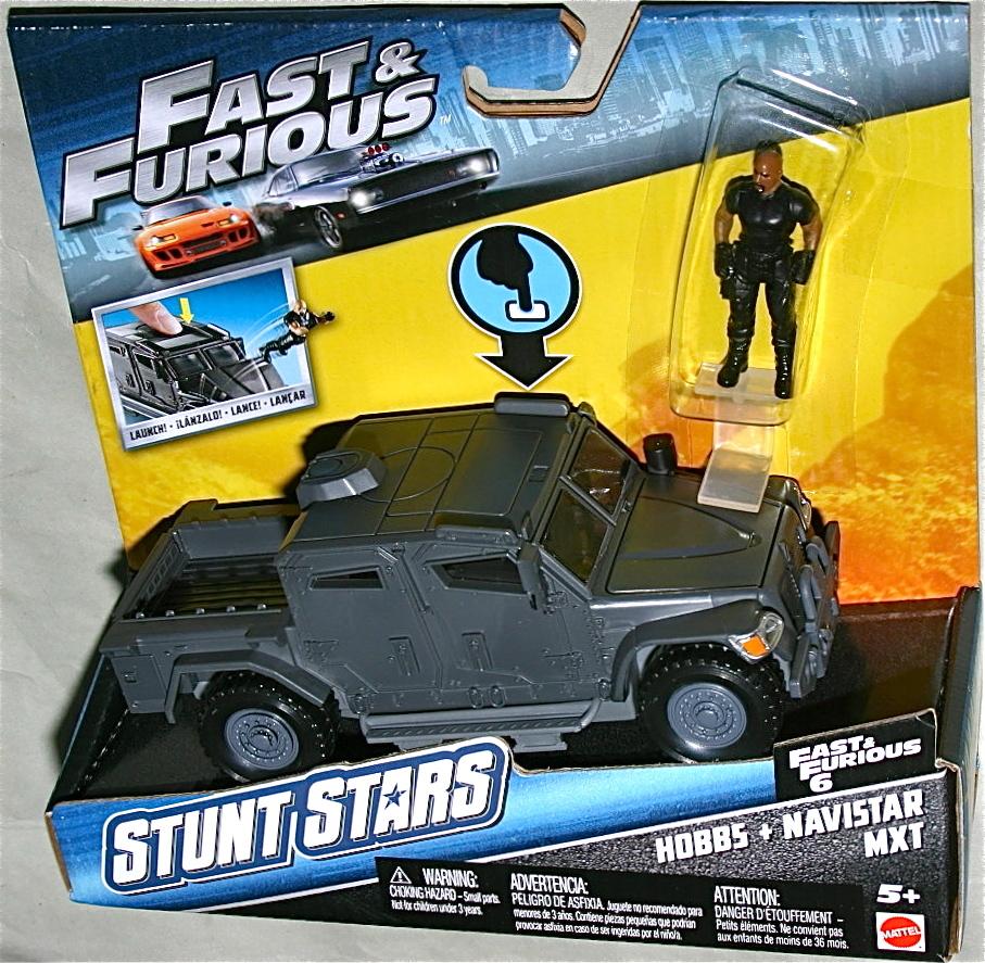 日本未発売 マテル ワイルドスピード ナビスター MXT & ホブス フィギュア STUNT STARS Navistar ドウェイン ジョンソン Fast & Furious_画像1