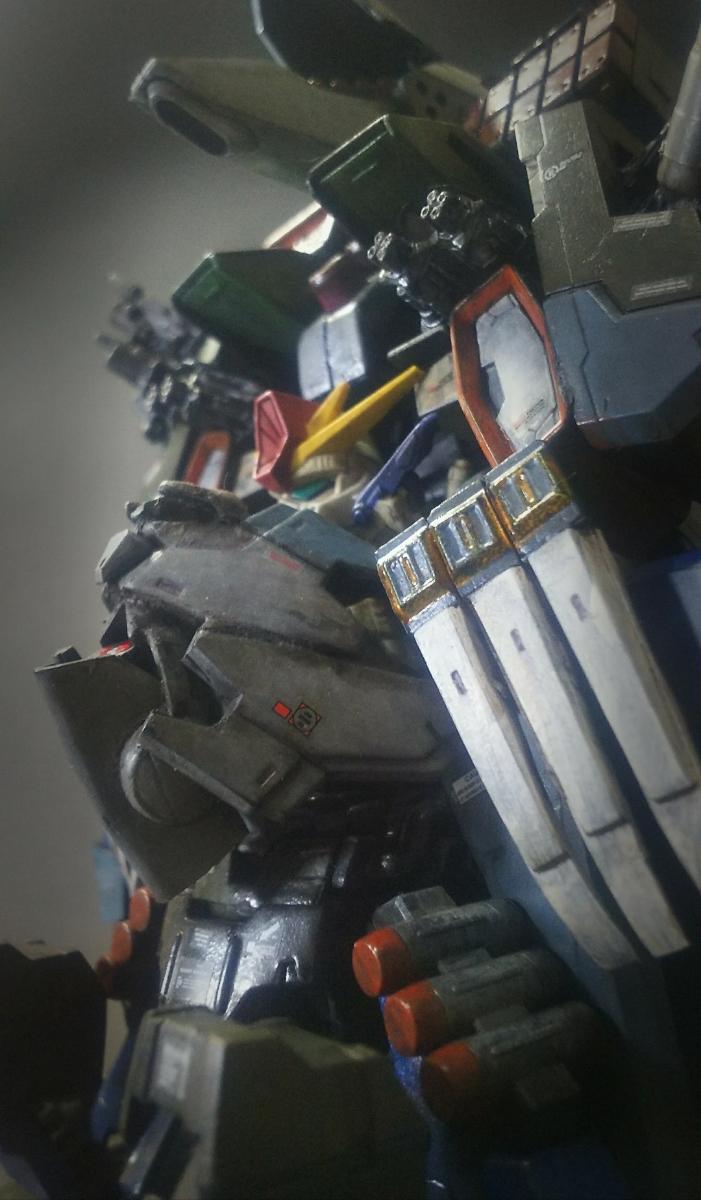 ウルトラスーパーフルアーマーヘビーデラックスガンダムZZ 徹底改修 塗装済み完成品ガシャポン戦士改造 ガンダム フルアーマー_画像8