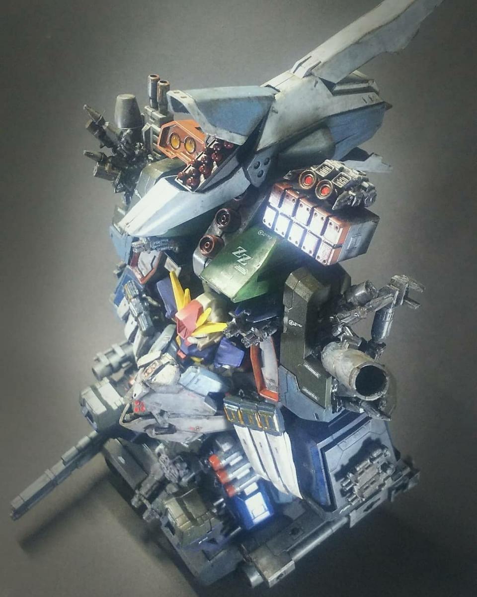 ウルトラスーパーフルアーマーヘビーデラックスガンダムZZ 徹底改修 塗装済み完成品ガシャポン戦士改造 ガンダム フルアーマー_画像3