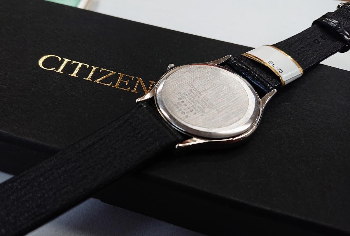 電池交換済み☆ CITIZEN シチズン EXCEED エクシード 0330-C08401Y シルバー クォーツ メンズ 腕時計 ☆AH-04_画像4