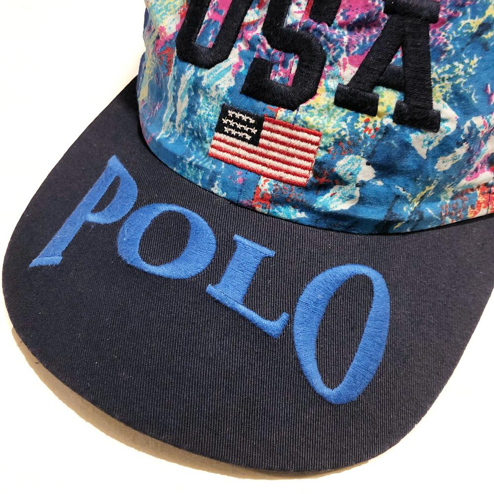 激レアUSA製! ラルフローレン USA FLAG POLO ポロ Ralph Lauren 90's アメリカ製 SPORT ポロスポーツ MADE IN USA フラッグ RLX ダンサー_画像3