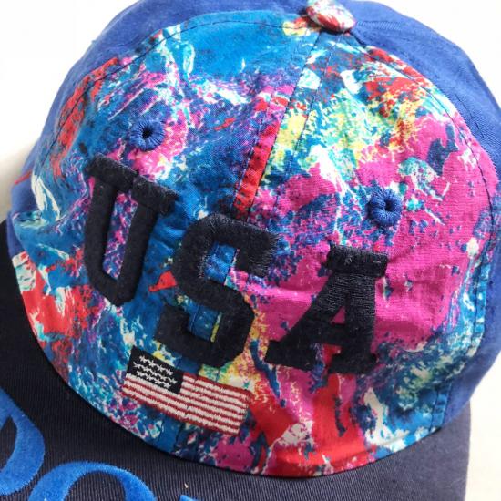 激レアUSA製! ラルフローレン USA FLAG POLO ポロ Ralph Lauren 90's アメリカ製 SPORT ポロスポーツ MADE IN USA フラッグ RLX ダンサー_画像2
