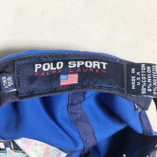 激レアUSA製! ラルフローレン USA FLAG POLO ポロ Ralph Lauren 90's アメリカ製 SPORT ポロスポーツ MADE IN USA フラッグ RLX ダンサー_画像8