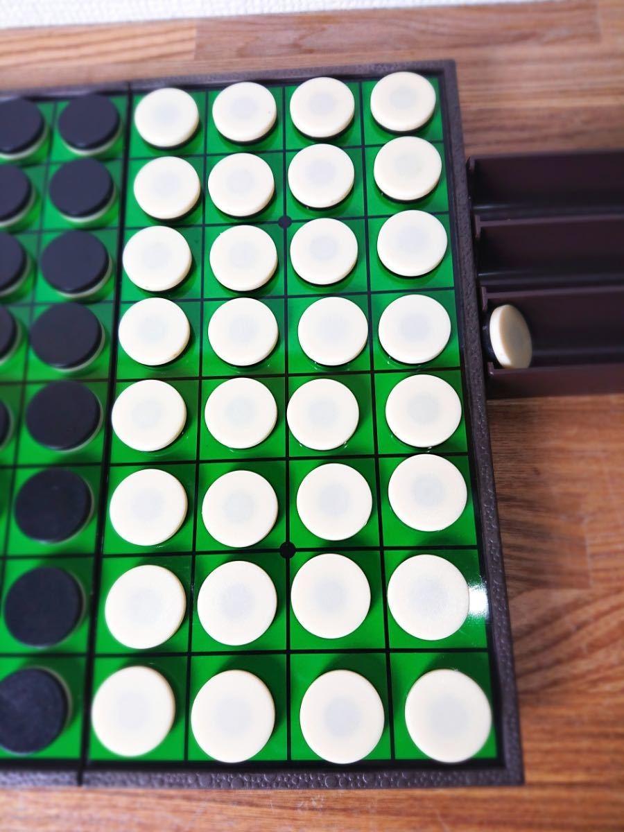★ 【美品】ツクダオリジナル マグネット型 オセロ Othello 日本オセロ協会公認 専用箱有 コンパクト ボードゲーム_画像3