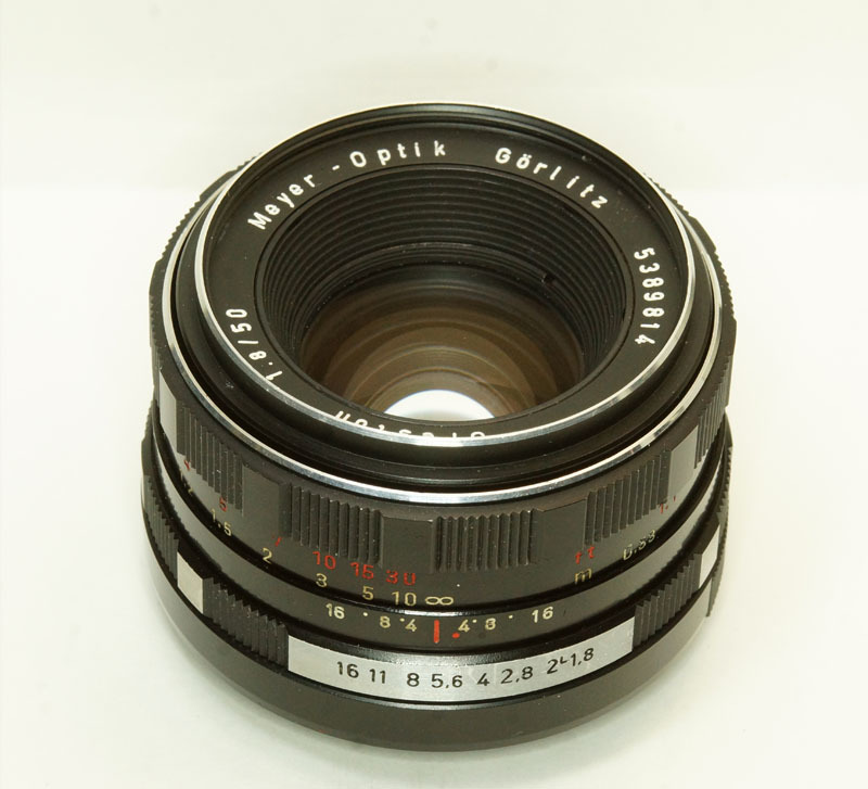 ドイツ製 Meyer -Optik Gorlitz Oreston 1.8/50 electric M42 17NB-814 後期型 ゼブラ _画像1