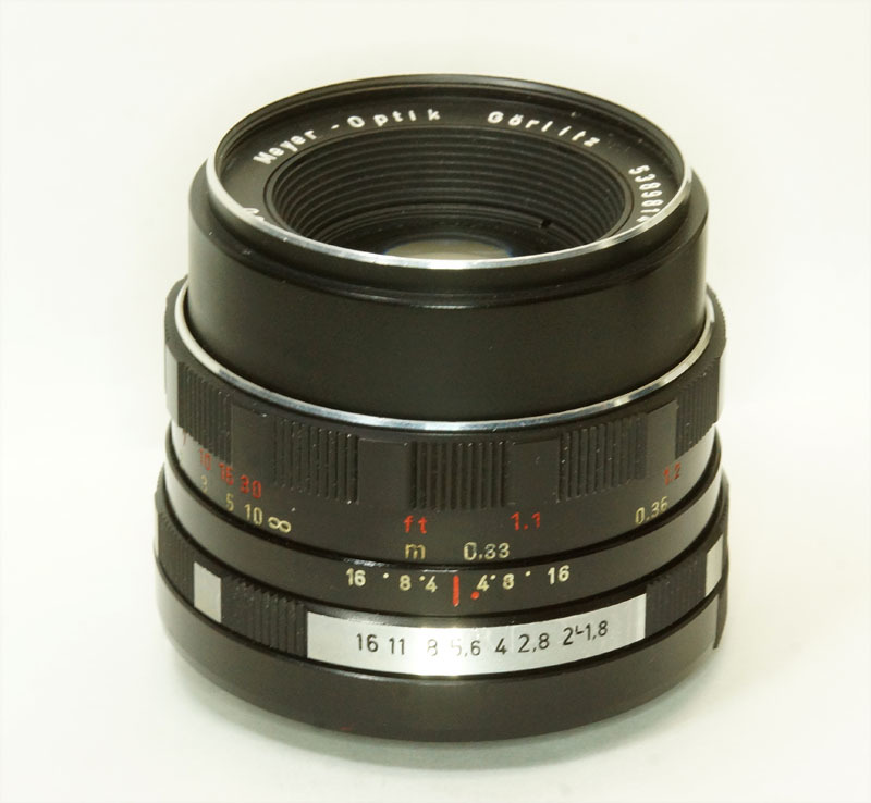ドイツ製 Meyer -Optik Gorlitz Oreston 1.8/50 electric M42 17NB-814 後期型 ゼブラ _画像2