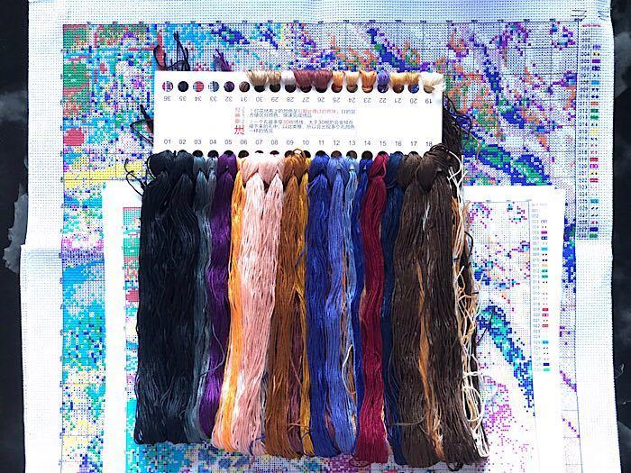 クロスステッチ 刺繍キット「いぬ ガール バーベキュー テント」 11CT 送料無料 ポイント消化 森