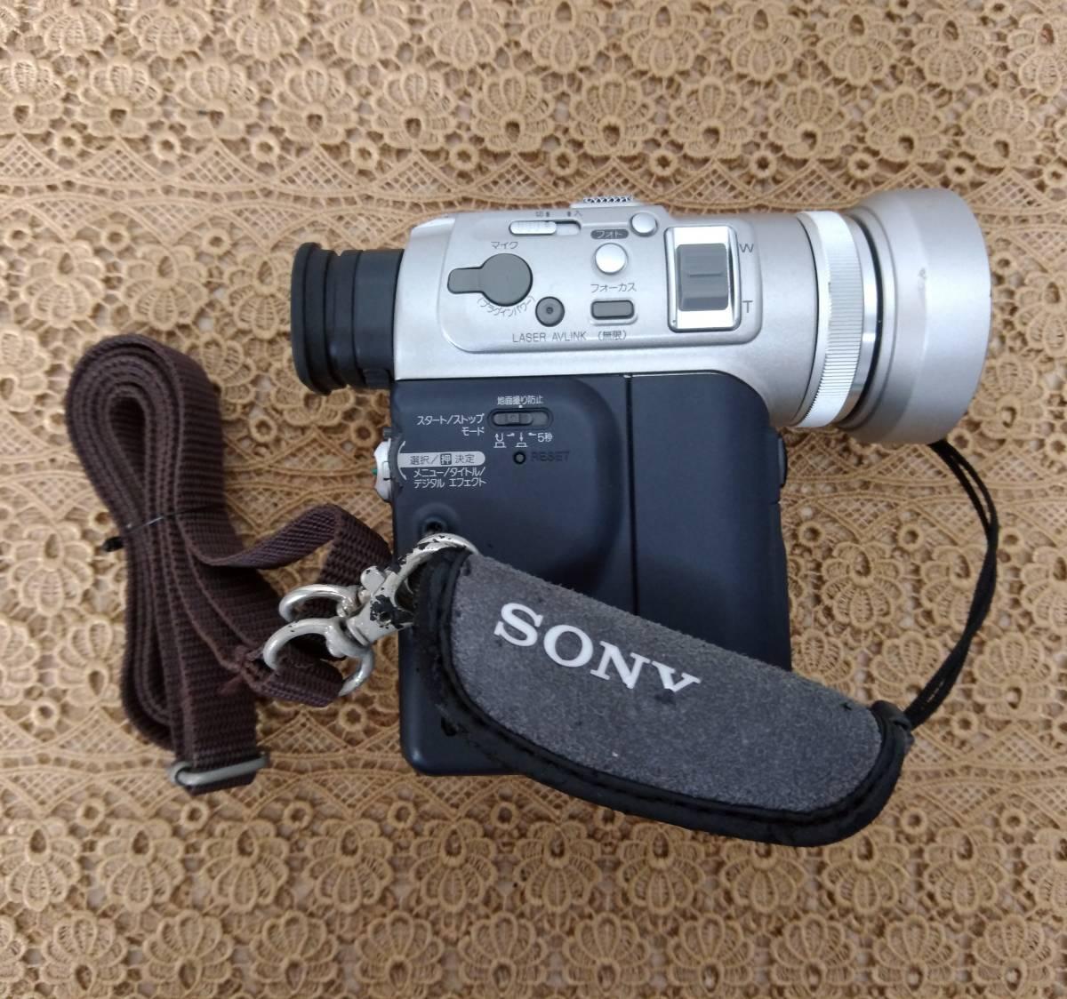 SONY ソニー DCR-PC100 デジタルビデオカメラ バッグ・MiniDV・メモリースティック付き 付属品多数_画像2