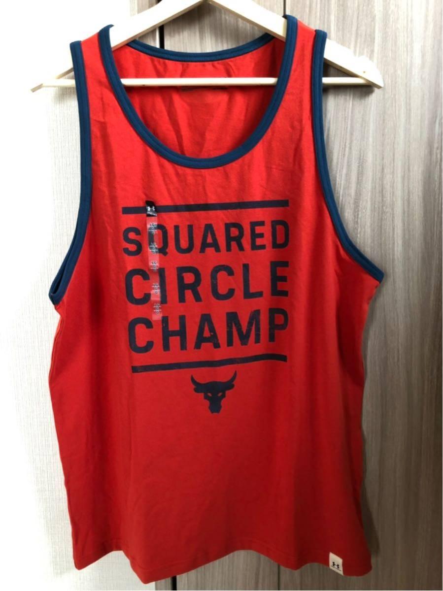 限定 完売品 UA アンダーアーマー UNDER ARMONR Project Rockタンク<Squared Circle Champ>(トレーニング/タンクトップ/MEN)
