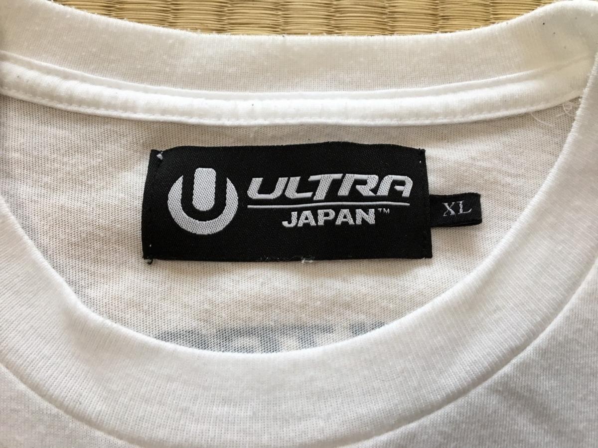 美品 ULTRA JAPAN ウルトラジャパン Tシャツ 限定品 白 XL レディース イベント フェス 音楽 _画像2