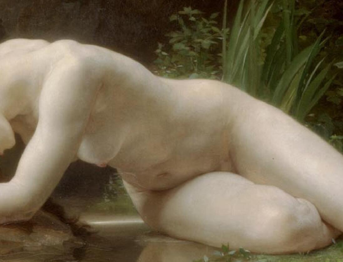 TL21作者不詳 西洋の油絵 美人画 裸婦 美術品絵画 油彩 ヌード 人物画 サイズ:65cm x 40cm_画像4