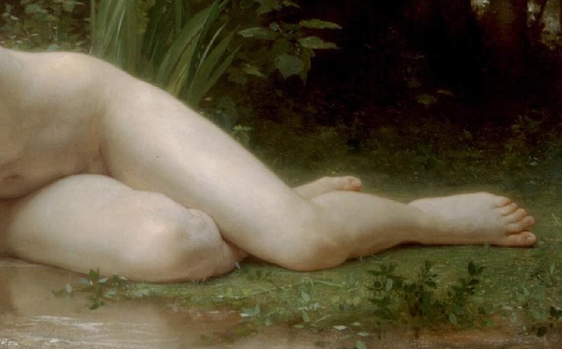 TL21作者不詳 西洋の油絵 美人画 裸婦 美術品絵画 油彩 ヌード 人物画 サイズ:65cm x 40cm_画像3