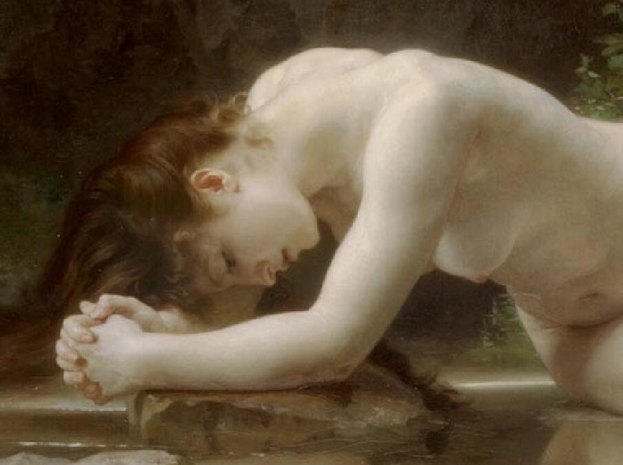 TL21作者不詳 西洋の油絵 美人画 裸婦 美術品絵画 油彩 ヌード 人物画 サイズ:65cm x 40cm_画像2