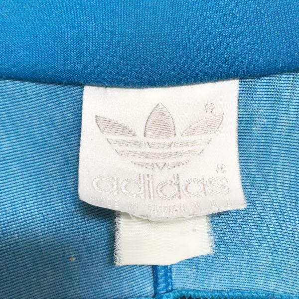 adidas アディダス トレフォイル トラックジャケット ジャージ ターコイズブルー ブラック ジップアップ ◆01790◆_画像6