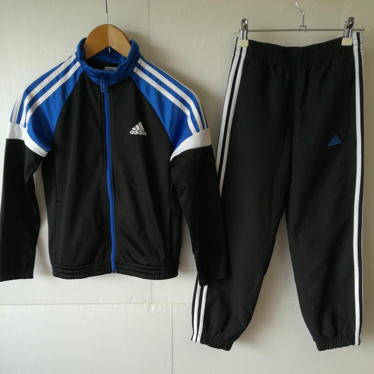 【一円】adidas アディダス ジャージ上着+スポーツウェアパンツ キッズ140/130サイズ 子供用