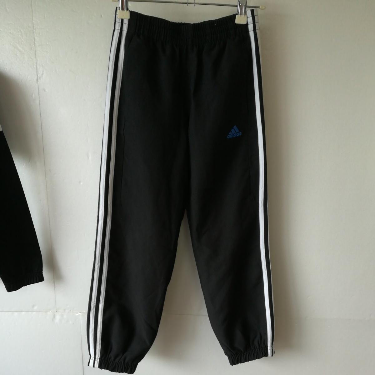 【一円】adidas アディダス ジャージ上着+スポーツウェアパンツ キッズ140/130サイズ 子供用_画像7