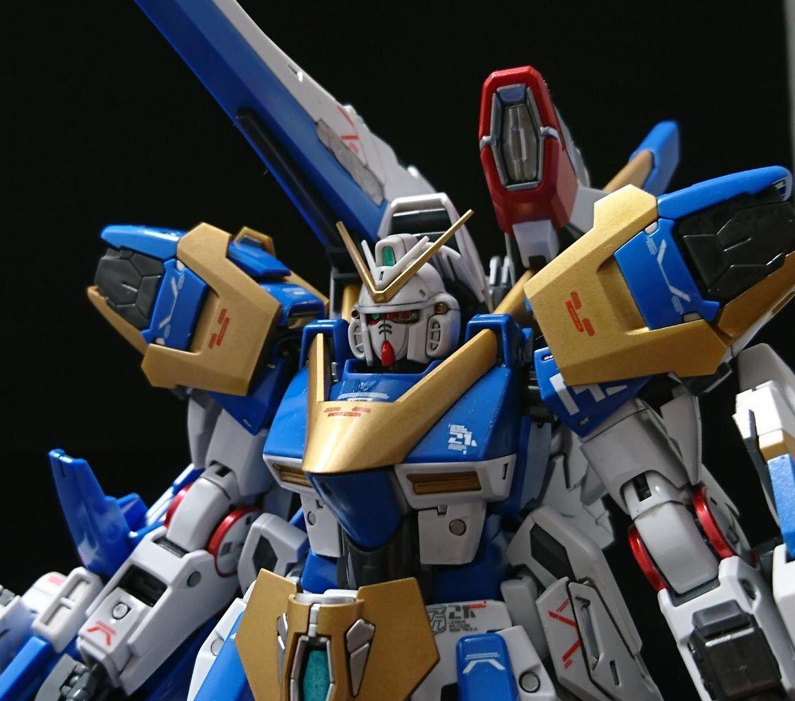 【塗装、小改修完成品】MG V2アサルトバスターガンダムVer.Ka (再出品)_画像4