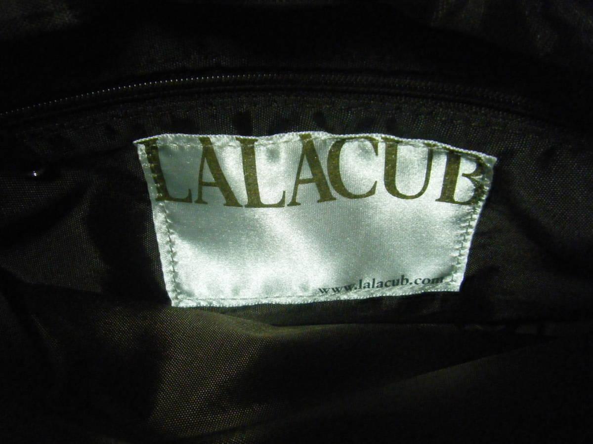 美品 LALACUB ララキューブ バッグ ショルダーバッグ 青系 バ588_画像7