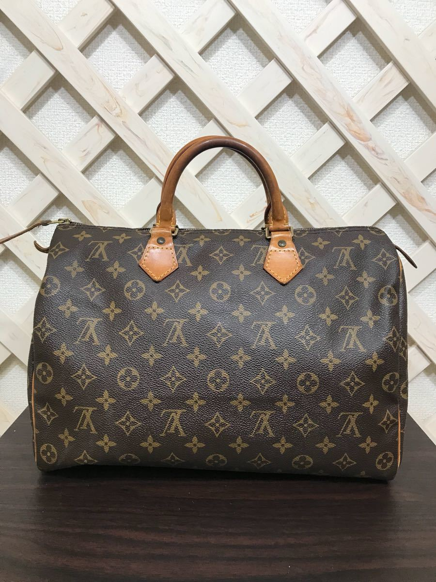 3d0b867a65ea LOUIS VUITTON ルイヴィトン モノグラム スピーディ35 ハンドバッグ ボストンバッグ ミニボストン 中古品 本物真贋