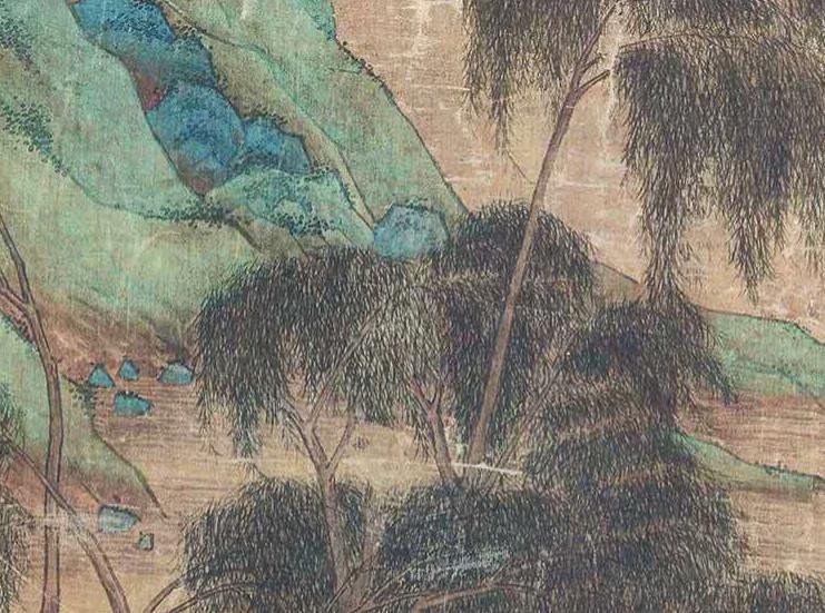 中国美術 仇英『山水人物』立軸 骨董品_画像2