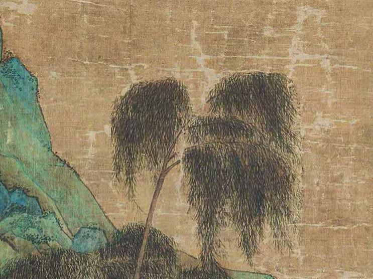中国美術 仇英『山水人物』立軸 骨董品_画像5
