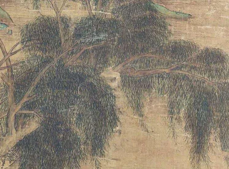 中国美術 仇英『山水人物』立軸 骨董品_画像3