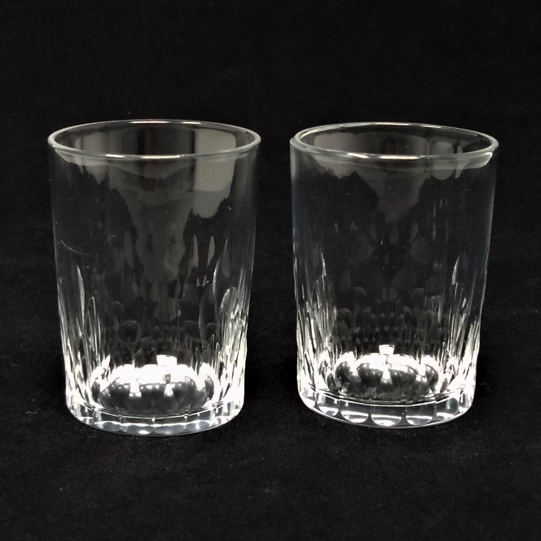 バカラ BACCARAT リシュリュー Richelieu ショットグラス リキュールグラス 2客セット H4.7cm 087◆冷酒 クリスタル タンブラー ゴブレット_画像3