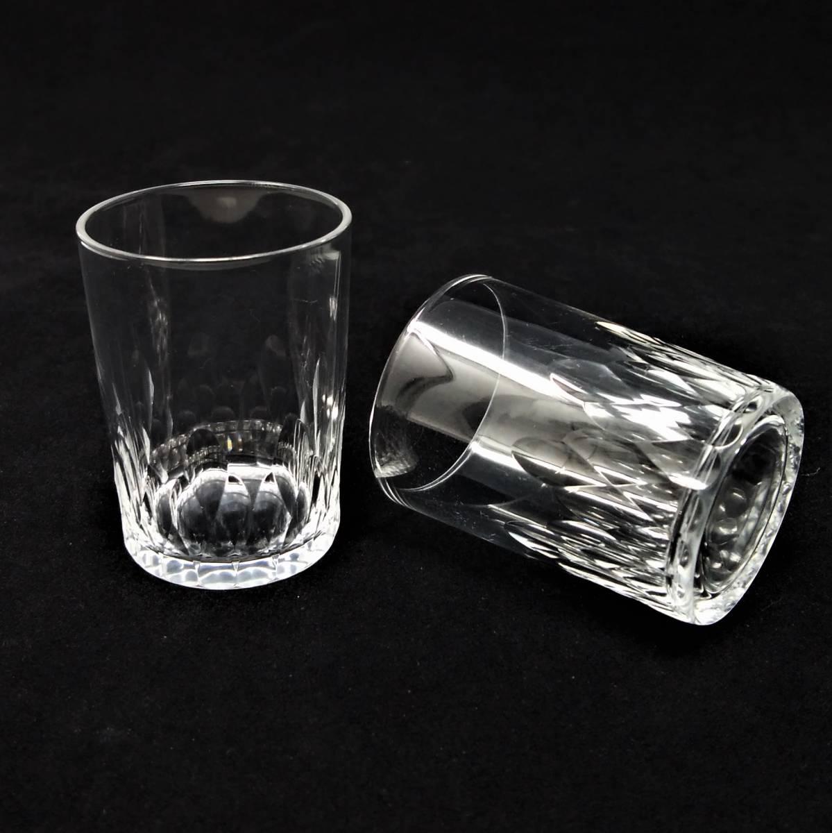 バカラ BACCARAT リシュリュー Richelieu ショットグラス リキュールグラス 2客セット H4.7cm 087◆冷酒 クリスタル タンブラー ゴブレット_画像2