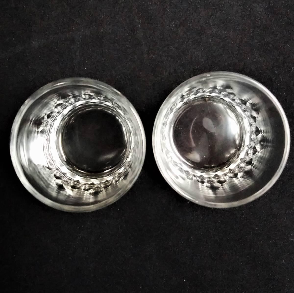 バカラ BACCARAT リシュリュー Richelieu ショットグラス リキュールグラス 2客セット H4.7cm 087◆冷酒 クリスタル タンブラー ゴブレット_画像5