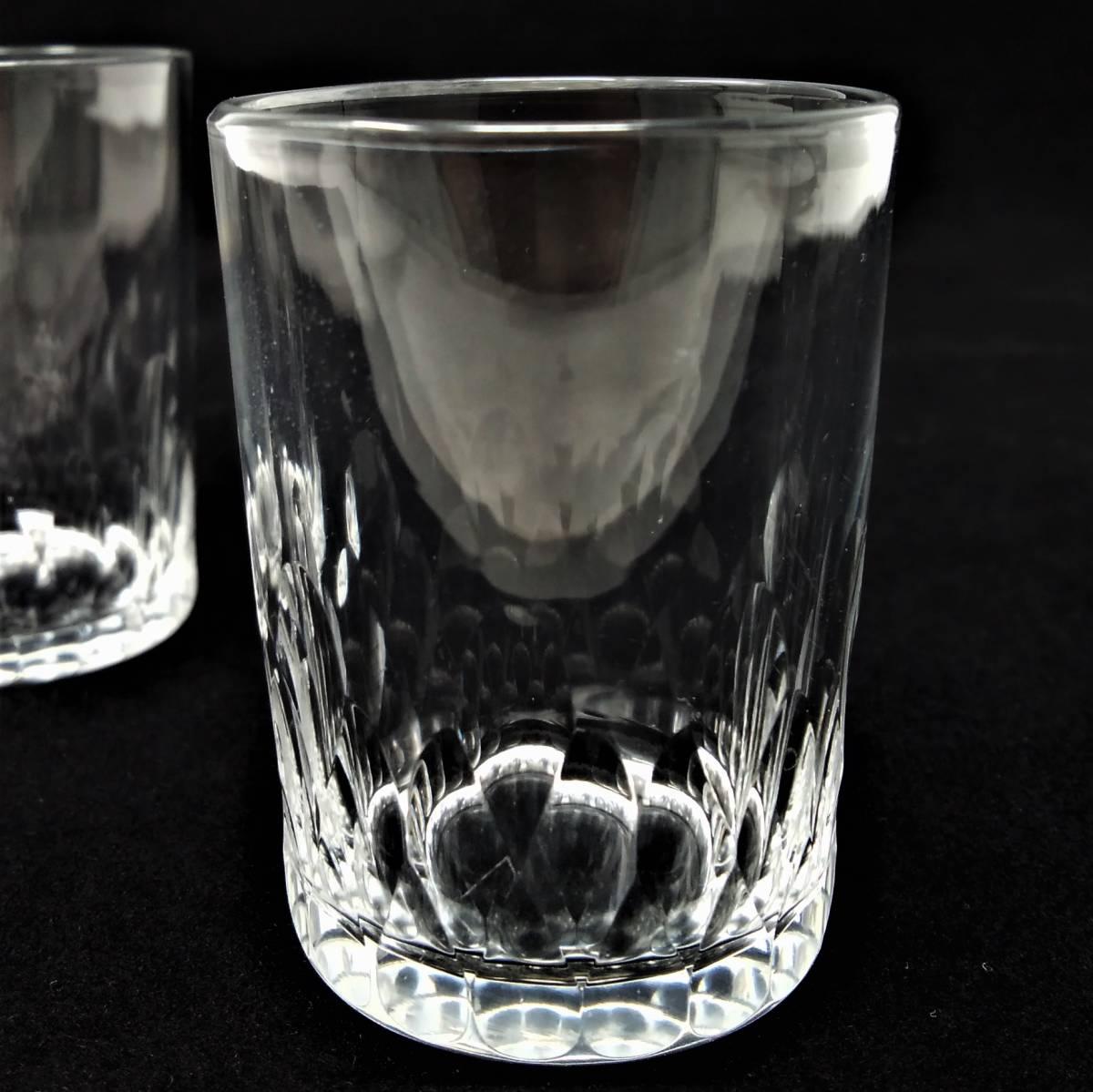 バカラ BACCARAT リシュリュー Richelieu ショットグラス リキュールグラス 2客セット H4.7cm 087◆冷酒 クリスタル タンブラー ゴブレット_画像9